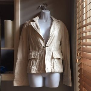 SUPER CUTE TAN CARGO JACKET WITH PACKETS SIZE M !!